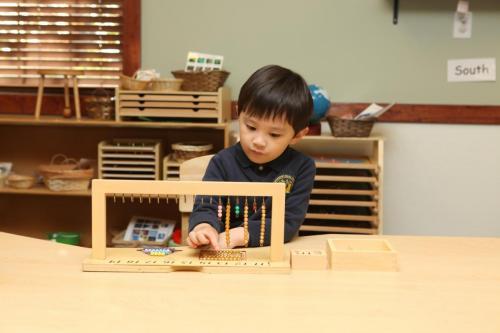 preschool boy learning