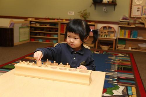 preschool girl learning