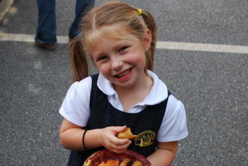 preschool girl in uniform